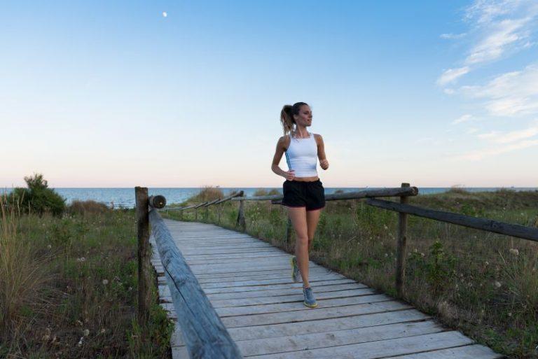 Laufen im Strand