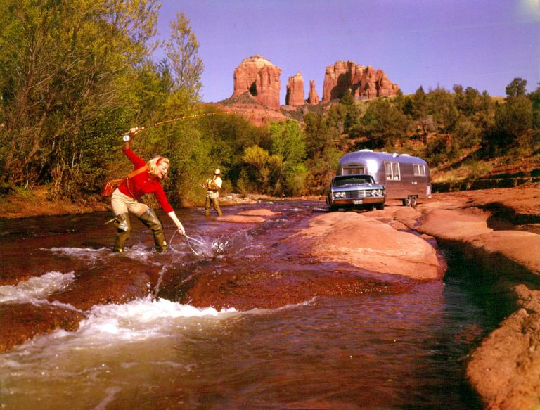 Lady with Fish - Airstream holidays