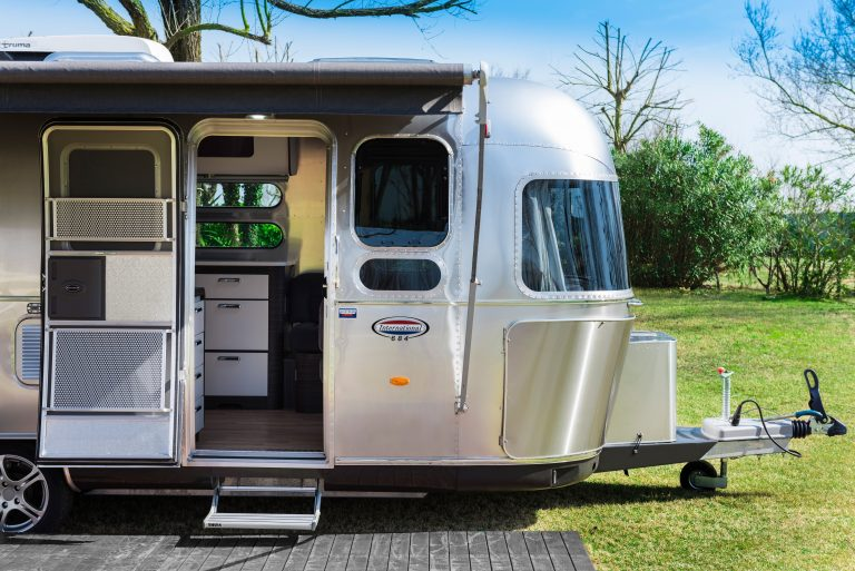 Our airstream exterior at ItalyAirstream Park