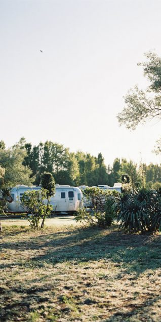 an airstream in venice beach and sun