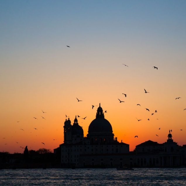 sunset piazza san marco in venice