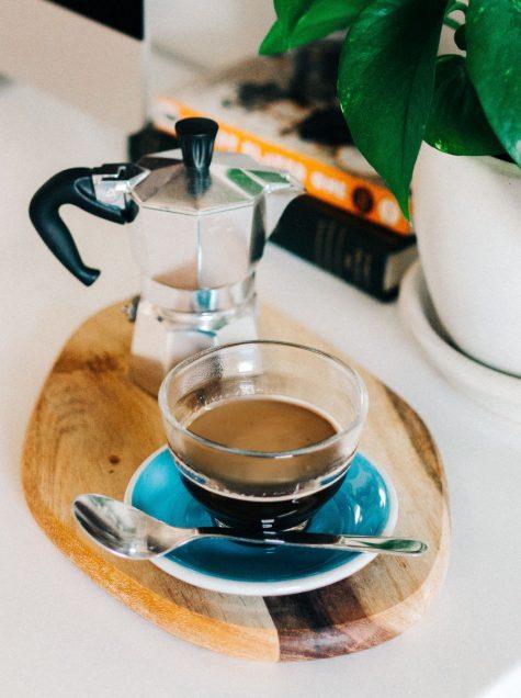 italian coffee breakfast in an airstream