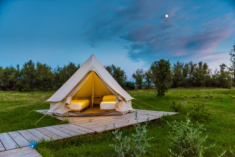 bell tent airstream park venice